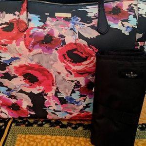 Kate Spade Floral Adaira Baby Bag/Changing Pad